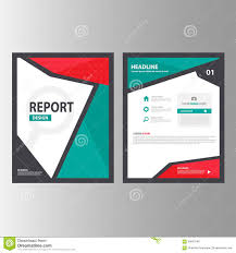 red green abstract brochure report flyer magazine presentation