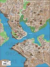 map of abidjan geoatlas city maps abidjan map city illustrator fully