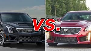 compare cadillac ats and cts cadillac ats v vs cadillac cts v carsdirect