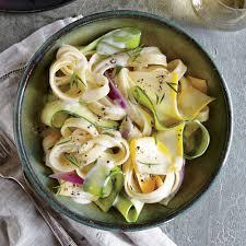 squash ribbon pasta with herb cream sauce recipe myrecipes