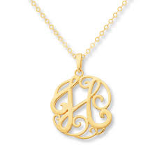 monogrammed gold necklace monogram necklace initial h 14k yellow gold