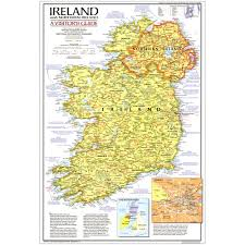 Northern Ireland Map 1981 Ireland And Northern Ireland Visitors Guide Map National