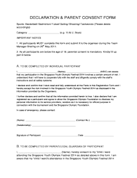 parent consent form for sports fill out print u0026 download online