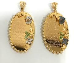 religious pendants 21k cz oval religious pendants kishek jewelers