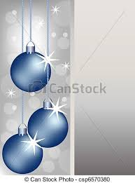 vector clipart of blue christmas ornaments on a silver background