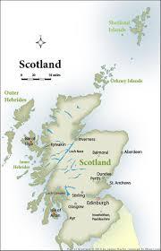 Road Map Of Scotland Scotland Map Top Tourist Spots