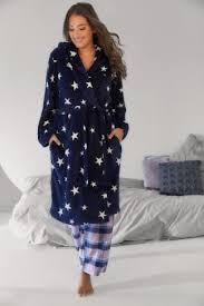 la robe de chambre robe de chambre bleue marine imprimé étoile avec capuche grandes