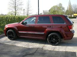jeep matte red black rims on rock red cherokee srt8 forum