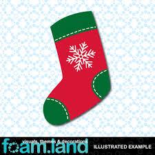an illustrated example of foamland u0027s christmas stocking foam shape