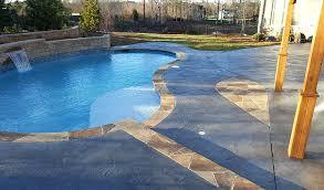 concrete pool deck paint ideas stamped concrete pool deck designs
