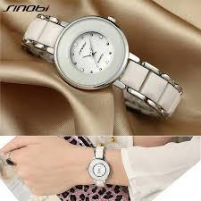 ceramic bracelet watches images Buy sinobi brand women 39 s watch dress imitated jpg
