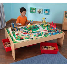 carousel train table set buy kidkraft waterfall mountain train table and set from our toy