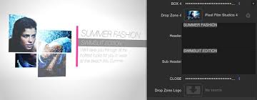 final cut pro x fashion themes line crossed