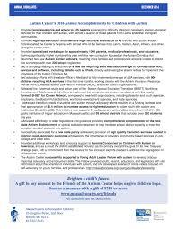 autism center 2016 newsletter massachusetts advocates for children