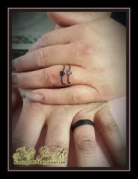 wedding ring finger husband wife tattoo black heart band kamloops