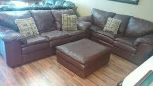 Real Leather Sofa Set by Sealy Burgundy Real Leather Sofa Set 2 Sofas U0026 Ott In Oviedo Letgo