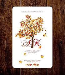 fall wedding programs autumn wedding program folded fall wedding program printable