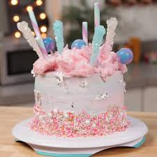 learn how to make this whimsical cotton candy cake video