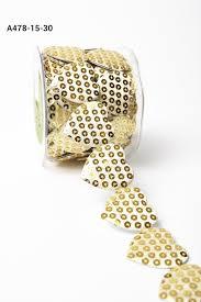 sequin ribbon 1 5 inch adhesive sequin heart may arts wholesale ribbon
