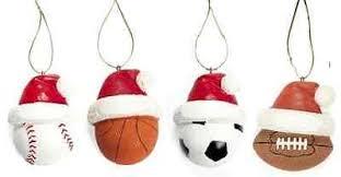 sports themed resin ornaments baseball basketball soccer