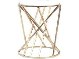 Bronze Accent Table Copper Accent Table Bronze Bars Side Table Metal Struts Glass