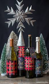 wine bottle christmas ideas the 25 best christmas wine bottle labels ideas on