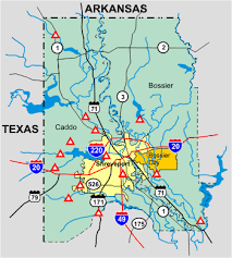 louisiana map areas usgs lawsc shreveport bossier city interactive flood map