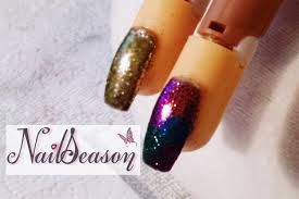 diy acrylic nails step by step metallic glitter effect 2016 youtube
