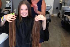 cut and inch off hair in pictures brave nell has 17 inches chopped off her hair for