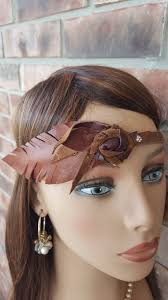 leather headband boho leather headband feather hair accessory boho hairband