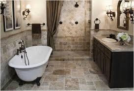 modern bathroom shower tile ideas above shiny white marble floor