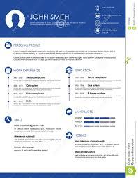 personal resume template minimalistic personal vector resume cv template stock vector blue minimalistic personal resume template
