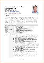 Simple Sample Resume by Lovely Sample Resume For Mechanical Engineers With Additional