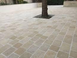 Carrelages Exterieur Castorama by Beau Pose De Pave Exterieur 4 Pav233 Granit Gris Clair 9 X 9 Cm