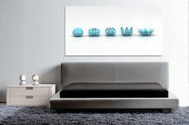 tableau d馗oration chambre décoration intérieure bleue