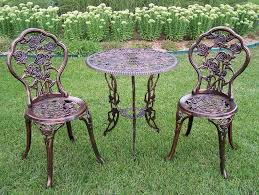 Outdoor Bistro Table Oakland Living Rose Cast Aluminum 3pc Outdoor Patio Bistro Set