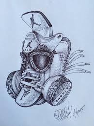 daily sketch white cement 3 gas mask u2013 the blog freehandprofit com