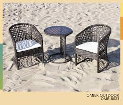 modern outdoor table and chairs rattan dining sets furniture product display omier rattan