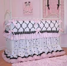 Crib Bedding Pattern View In Gallery Bedding In Chic Pink And Black Pattern View