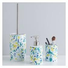 splatter bathroom accessory sets toothbrush u0026 soap holders habitat