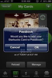 Starbucks Business Cards Starbucks Card Apple Passbook Business Insider