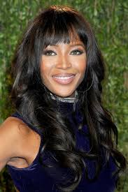 layered hairstyles with bangs for african americans that hairs thinning out african american long black curly hairstyle with blunt bangs from