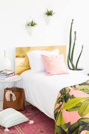 19 home decor diys you can do in a weekend diy faux brass headboard