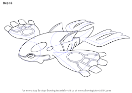 learn how to draw kyogre from pokemon pokemon step by step