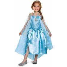 Kids Light Halloween Costume Frozen Elsa Classic Child Halloween Dress Role Play Costume