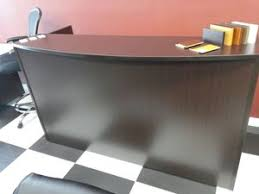 Espresso Reception Desk Gables Office Furniture Showroom New Desk Only 349 Furniture