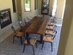 Refurbished Dining Tables Layout Reclaimed Wood Dining Table Dans Design Magz Designer