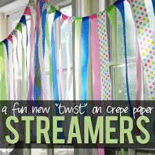 paper crepe streamers a new twist on crepe paper streamers