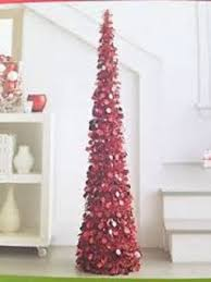 amazon com 7 ft collapsible tinsel artificial christmas tree red