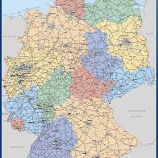 map germany large map of germany vector wall maps by netmaps